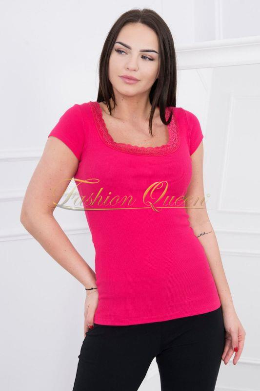 0df2f0a91213 Fashion Queen - Dámske oblečenie a móda - Tričko s čipkou