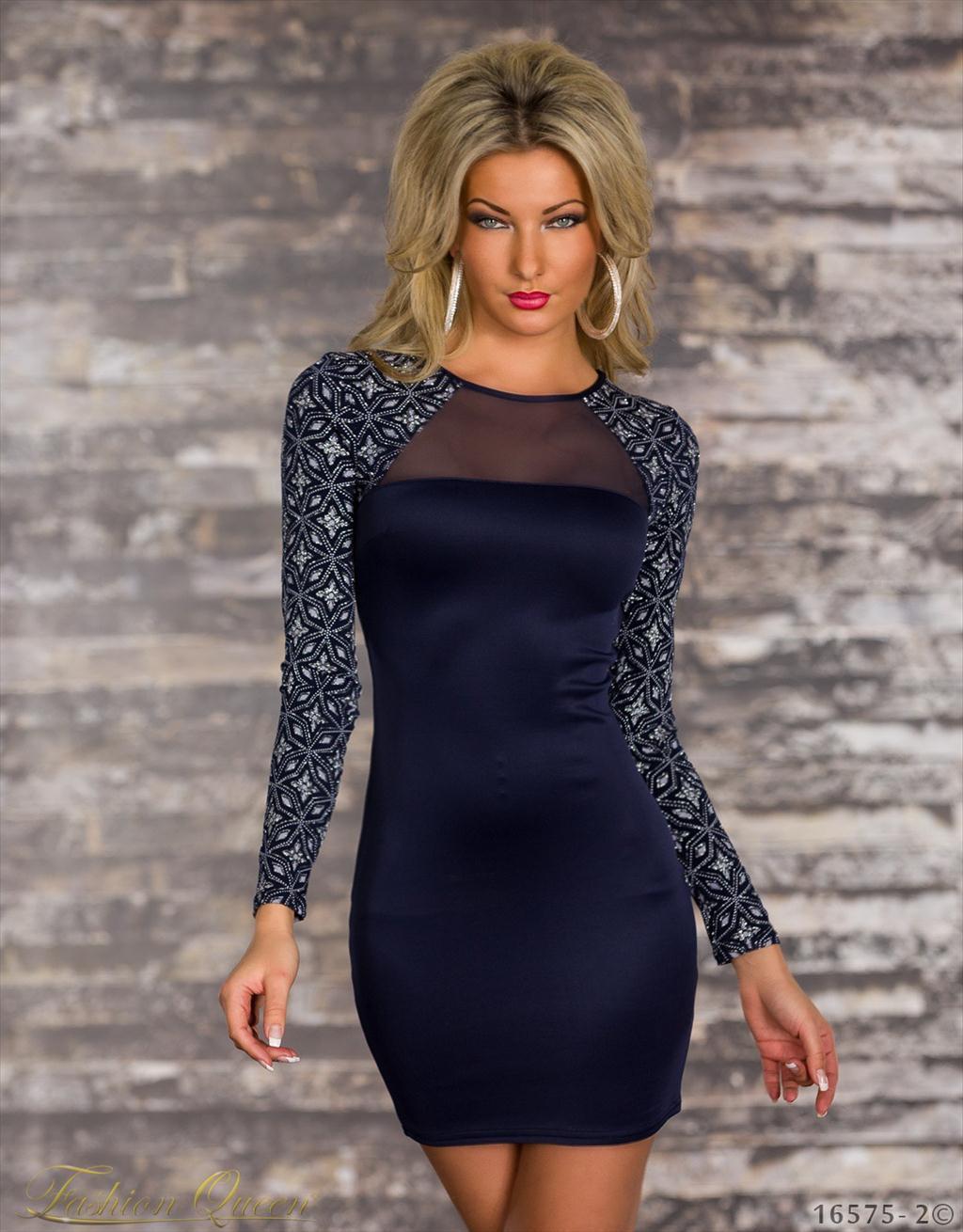 Fashion Queen - Dámske oblečenie a móda - Šaty s dlhým rukávom b8ba19bbe50
