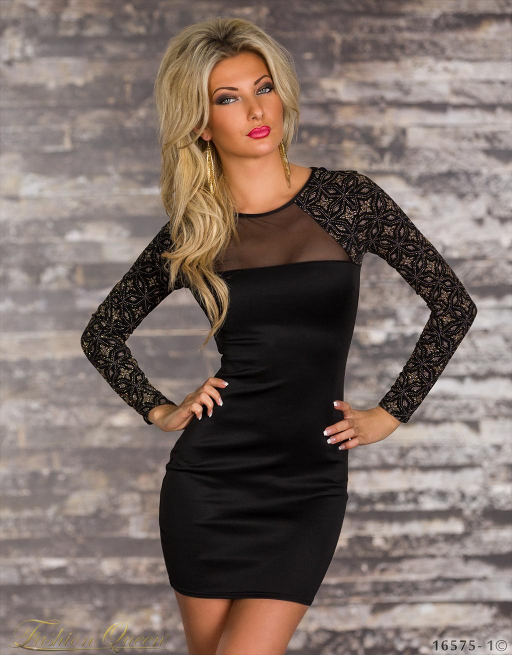 Fashion Queen - Dámske oblečenie a móda - Šaty s dlhým rukávom 3b9679b5f3e